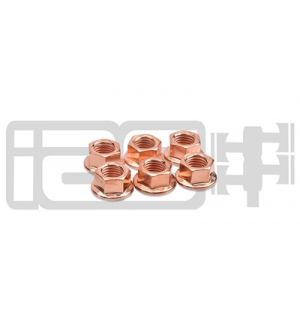 IAG M10 COPPER EXHAUST NUTS (PACK OF 6)