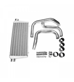 CX Racing Tube & Fin Front Mount Intercooler Piping Kit For Nissan S13 S14 S15 240SX Skyline R33 R34 GTR GTS With RB20DET RB25DET Engine