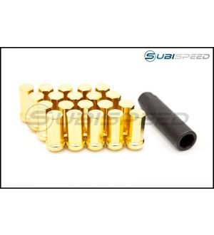 Project Kics Kyokugen Closed End Lugnut (Gold) - 2015+ WRX / STI / 2013+ BRZ