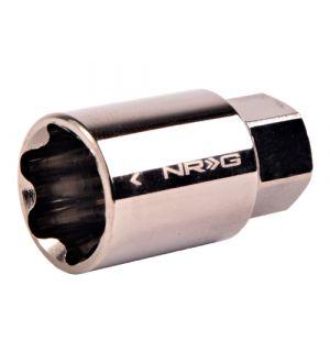 NRG Innovations Lug Nut Lock Key Socket Black Chrome 17mm Spare For use with LN L40 L41 L01 L1