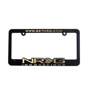 NRG Innovations License Plate Frame Gold