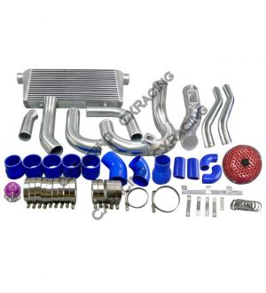 CX Racing Intercooler Kit Turbo Intake Radiator Piping For SC300 2JZ 2JZGTE Single Turbo