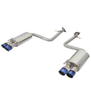 aFe Takeda 16-17 Lexus RC 200T 2.0L (t) 2in. SS Axle-Back Exhaust System w/Polished Blue Tips