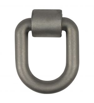 Curt 3inx 4in Weld-On Tie-Down D-Ring (15587lbs Raw Steel)