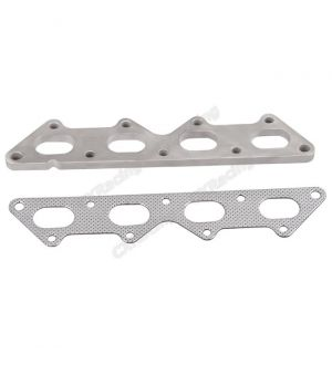 CX Racing Exhaust Manifold Stainless Steel Flange + Gasket For Eclipse Talon Laser 1G 2G DSM 4G63 Turbo Engine