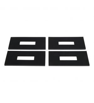 Curt 5th Wheel Rail Sound Dampening Pads (Packaged)