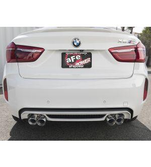 aFe MACH Force-Xp 3.5in. 304 SS C/B Exhaust w/o Muffler 15-18 BMW X5 M V8-4.4L (tt) - Polished Tip