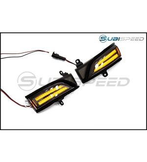 OLM SEQUENTIAL MIRROR TURN SIGNALS WITH DRLS - 2015+ WRX / 2015+ STI / 14-18 FORESTER / 13-17 CROSSTREK