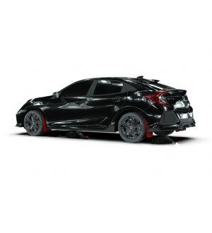 Rally Armor 17-19 Honda Civic Sport Touring Red UR Mud Flap w/ Black Logo
