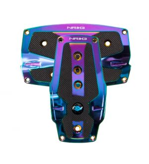 NRG Innovations Neochrome aliminum sport pedal w/ Black rubber inserts AT