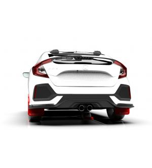 Rally Armor 17-19 Honda Civic Sport Touring Red UR Mud Flap w/ White Logo