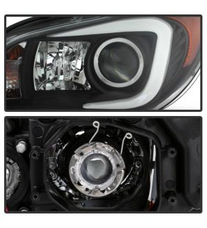 Spyder Subaru Impreza WRX 2006-2007 Projector Headlights - Halogen Model Only ( Not Compatible With Xenon/HID Model ) - Light Bar DRL - Black