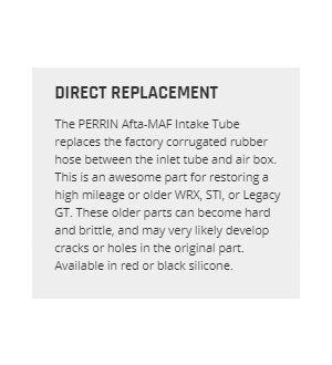 PERRIN Afta MAF Hose Black- Subaru WRX/STI 2008-2014 / Legacy GT 2005-2009