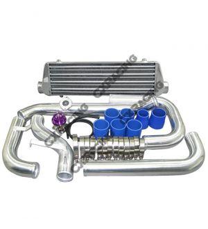 CX Racing Tube & Fin Intercooler Piping Kit + BOV For 88-00 Civic D D16 B16 B18