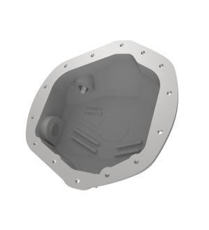 aFe Street Series Rear Differential Cover Raw w/ Machined Fins 01-18 GM Diesel Trucks V8-6.6L (td)
