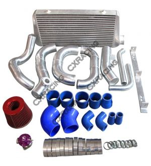 CX Racing Intercooler Kit Turbo Intake Radiator Piping For 86-92 Supra MK3 2JZ-GTE 2JZGTE