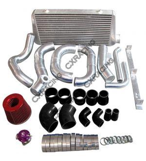 CX Racing Intercooler Kit Turbo Intake Radiator Piping For 86-92 Supra MK3 2JZ-GTE 2JZGTE