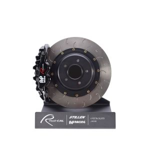 AP Racing Black Radi-CAL Brake Kit System, J-Hook Rotors (355x32mm) by STILLEN - 2015+ WRX / 2015+ STI