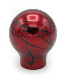 BilletWorkz Red with Black Splash Shift Knob Subaru BRZ Auto (10x1.25mm) Tall Teardrop