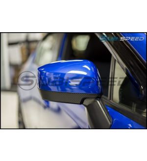 3D Carbon Fiber Mirror Overlays (lower) - 2015+ WRX / 2015+ STI / 2015+ Crosstrek