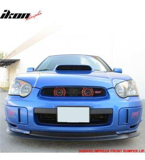 Ikon Motorsports Fits 04-05 Subaru Impreza WRX STI V-Limited Style Front Bumper Lip Spoiler - PP