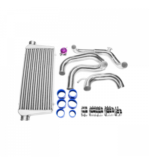 CX Racing  Intercooler Piping Kit + BOV For 89-99 240SX S14 S15 SR20DET Tube & Fin FMIC