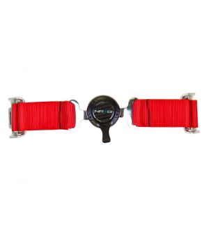 NRG Innovations 4 Point Seat Belt Harness / Cam Lock- Red