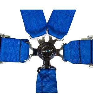 NRG Innovations 6 Pt 3inch Seat Belt Harness / Cam Lock- Blue