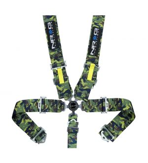 NRG Innovations SFI 16.1 5pt 3 inch Seat Belt Harness / Latch Link - Camo