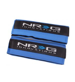 NRG Innovations Seat Belt Pads - Blue