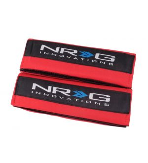 NRG Innovations Seat Belt Pads - Red