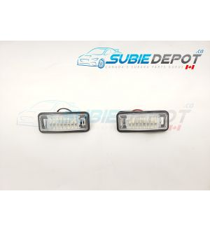 SubieDepot License Plate LED Full Replacement Housing - 2013+ FR-S/BRZ/86, 2015+ WRX/STI and more