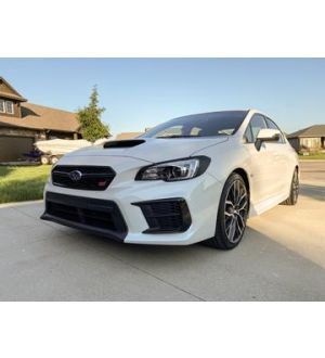 StickerFab  SPECIAL EDITION DARK SMOKE CARBON FIBER HEADLIGHT OVERLAYS - 2015+ WRX / STI