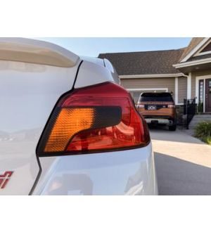 StickerFab  SPECIAL EDITION DARK SMOKE CARBON FIBER TAIL LIGHT OVERLAYS - 2015+ WRX / STI