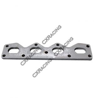 CX Racing Exhaust Manifold Steel flange + Gasket For 89-97 Mazda Miata 1.6L