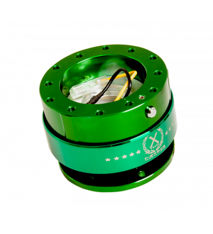 NRG Innovations Quick Release - Green Body/Neo-Chrome Ring