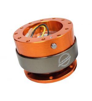 NRG Innovations Quick Release - Orange Body/Neo-Chrome Ring