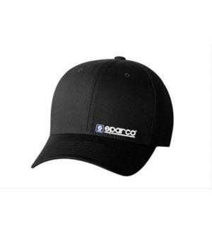 Sparco Hat Lid Black Large/XLarge FlexFit Tuning Universal