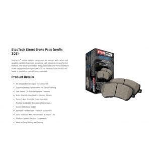Stoptech Street Rear Brake Pads Subaru WRX 2006-2007 / 300ZX 1990-1996