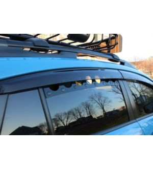 BilletWorkz Window Vents Subaru Crosstrek 2013-2017 Rivet Color BLUE