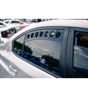 BilletWorkz Window Vents Subaru WRX / STI 2015-2020 Rivet Color SILVER
