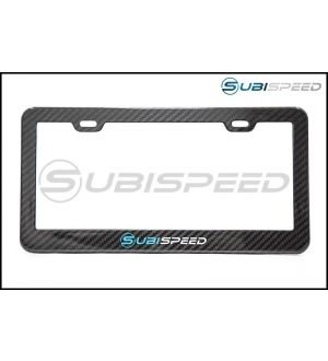 SubiSpeed Carbon Fiber License Plate Frame