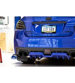 OLM A1 STYLE PAINT MATCHED REAR DIFFUSER 2015-2020 Subaru WRX & STI - Crystal Black Silica / Raven (D4S)