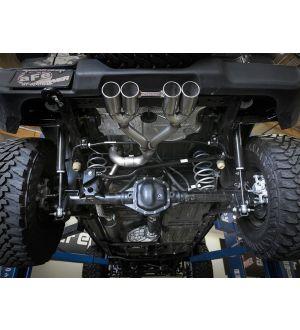 aFe Rebel Series 2.5in. 304 SS C/B Exhaust System 2018 Jeep Wrangler (JL) V6-3.6L - Polished Tip
