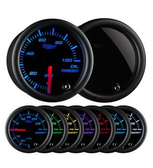 GlowShift Tinted 7 Color Oil Pressure Gauge