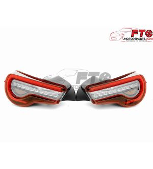 VLAND Clear Lens with Chrome/Red Sequential Taillights - 13+ FRS/BRZ/86