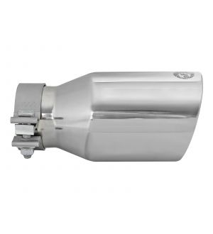 aFe MACH Force-Xp Univ 304 SS Double-Wall Clamp-On Exhaust Tip - Polished - 3in Inlet - 4.5in Outlet