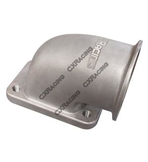 CX Racing Turbo Header + Turbo Elbow For Chevrolet Small-Block Engine, Fits Many Applications.