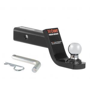 Curt Fusion Ball Mount w/1-7/8in Ball (2in Shank 5000lbs 4in Drop)