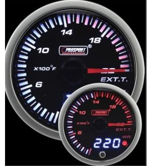 ProSport JDM Electrical EGT Dual Display w/Quick Connect Temp Probe
